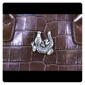 Barry Keiselstein Cord Croco Emb. Bag *Barry Cord*